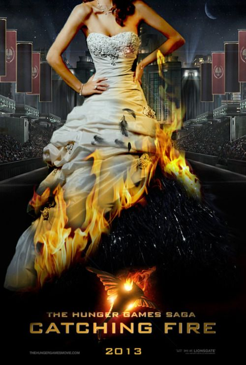 I wonder what they'll do in the movie for her Catching Fire interview dress?