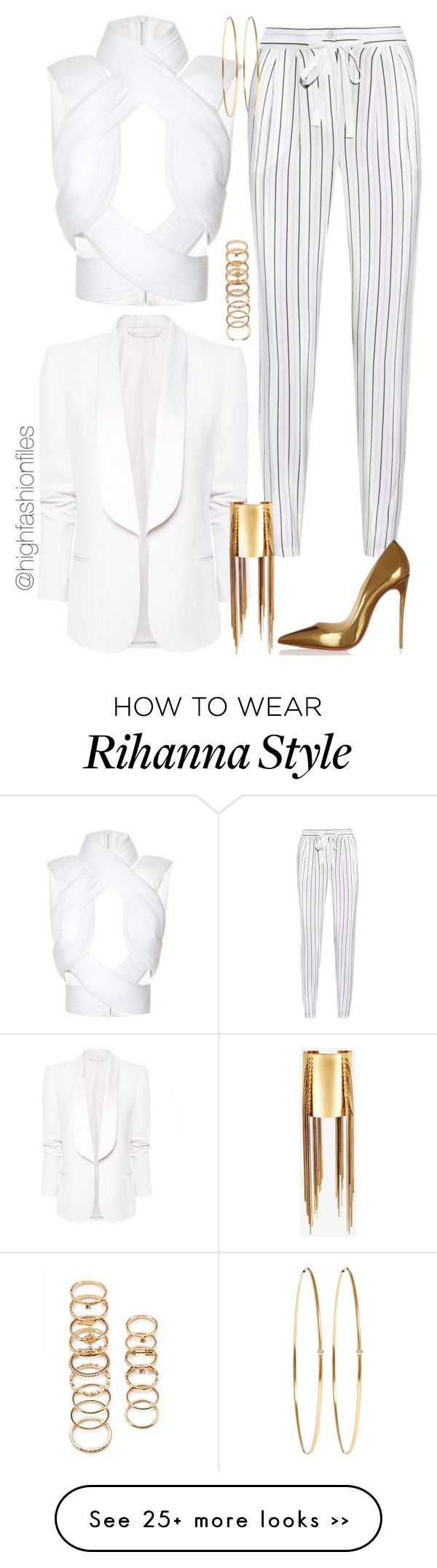 """""""Lines"""" by highfashionfiles on Polyvore"""