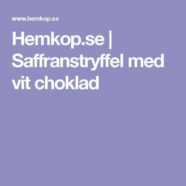 Hemkop.se | Saffranstryffel med vit choklad