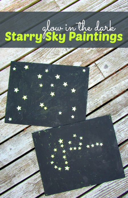 Glow In The Dark Stars Craft – you could make names, constellations, initials…