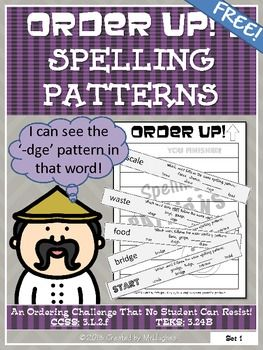 FREE- Get ready for a TEST DRIVE of my popular Order Up! series. I am offering my Spelling Patterns for FREE! WAHOO! Try it out and leave some feedback. Enjoy! (Grades 3-6+)