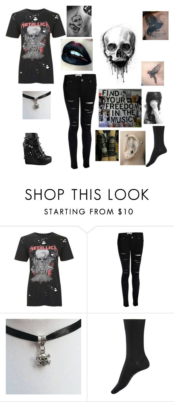 """""""hey"""" by stutter-bunny ❤ liked on Polyvore featuring Topshop, Boohoo, Abbey Dawn, Falke, Sugarpill and Music Notes"""
