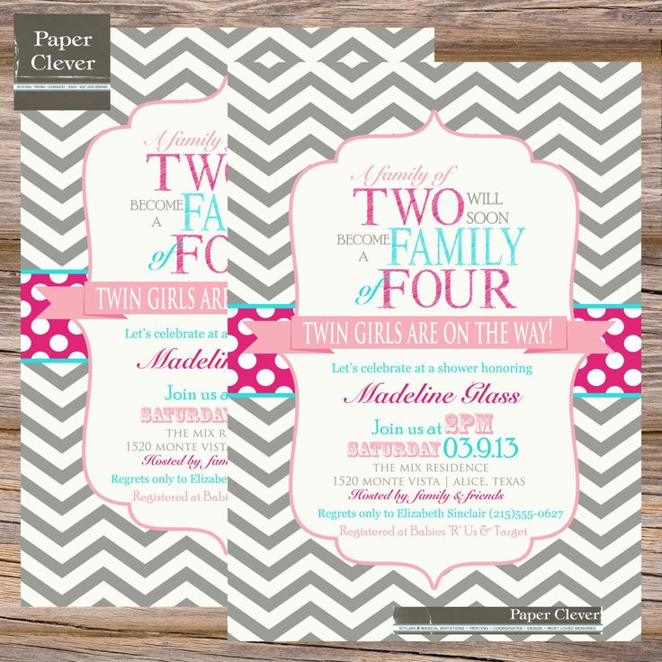 25 best Baby Shower Invitations images on Pinterest | Baby girl ...