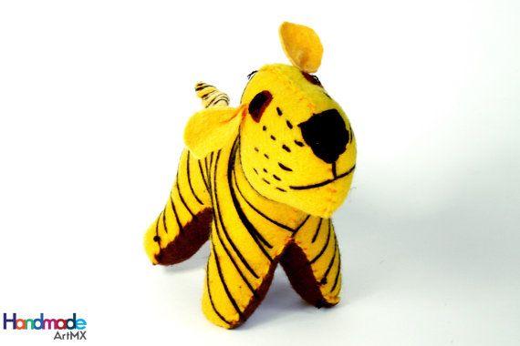 Handmade Wool Stuffed Tiger / Handmade Stuffed by HandmadeArtMX