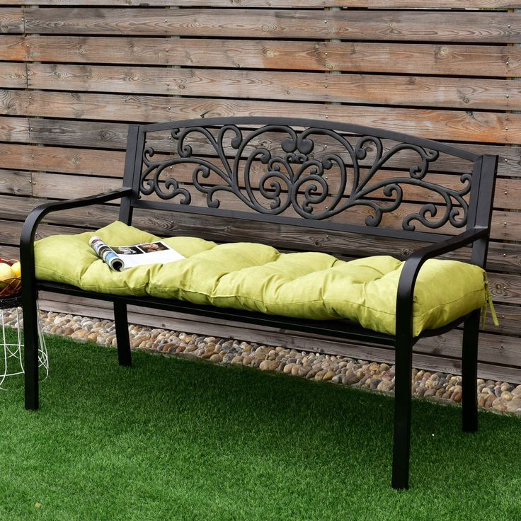 "51"" Indoor Outdoor #Swing Glider Sit #Bench Cushion Chair"