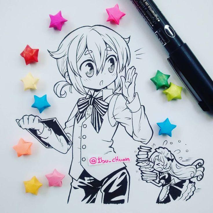 Tammy va a explotar~ Hice esto anoche, empezó como un sketch y como vi que no se veía mal, lo continúe y le puse más detalles qwq pero no lo subí pues la luz no era la mejor para sacar la foto, así que preferí esperar la luz de día. Dibujar a Pairy en ese uniforme siempre estuvo en mi mente 💜 #traditional #ink #blackandwhite #mangastyleart #originalcharacter #starsofpaper #stars #estrellas #kawaii #kakkoi #cute #colors #instadraw #instaanime #instaart