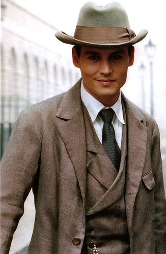 A very dapper Johnny Depp in Finding Neverland
