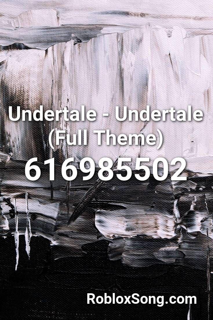 Undertale Undertale Full Theme Roblox Id Roblox Music Codes