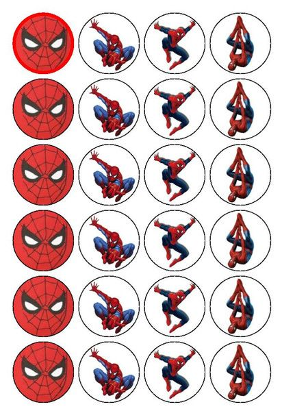 free printable cupcake wrappers and toppers with spiderman - Recherche Google