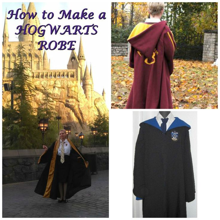 Harry Potter Hogwarts robes are easy to find but it's much more fun to make them using any of the DIY patterns and wonderful tutorials…what talented costuming fans!