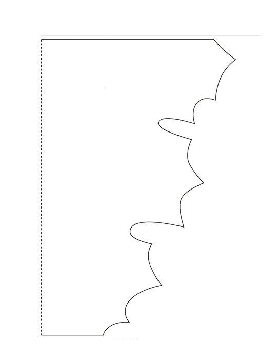 Шаблон для вырезания кленового листа