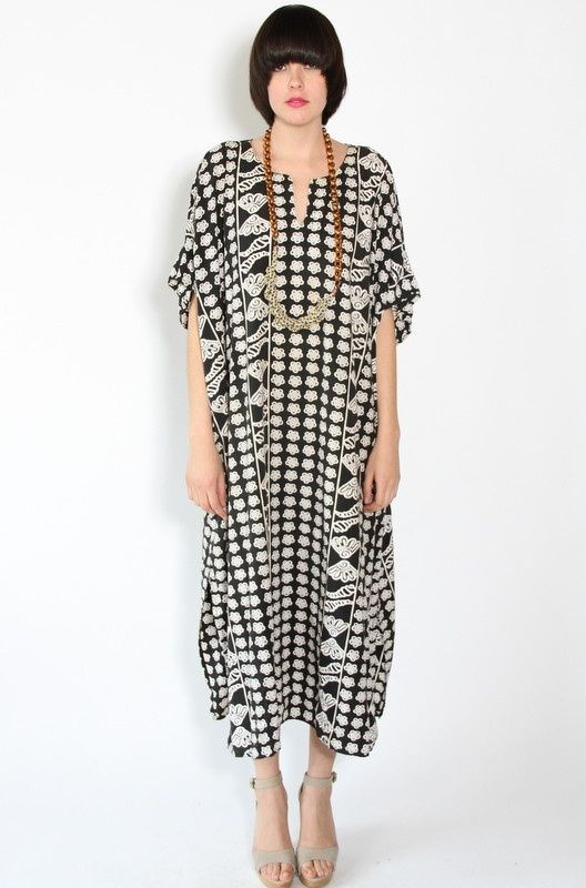 Kaftan inspiration with border fabric