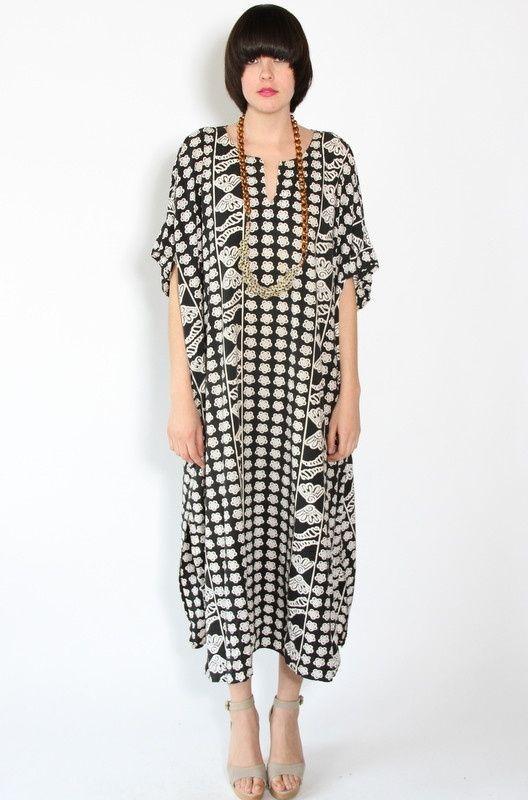 Kaftan inspiration with border fabric