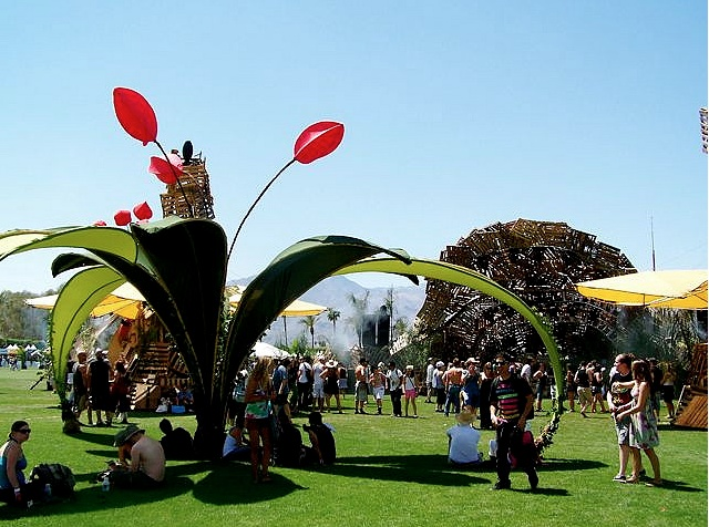 Once again, iconic art defines a festival and ensures its personality and longevity ... from Coachella 2009.  The Do Lab Oasis