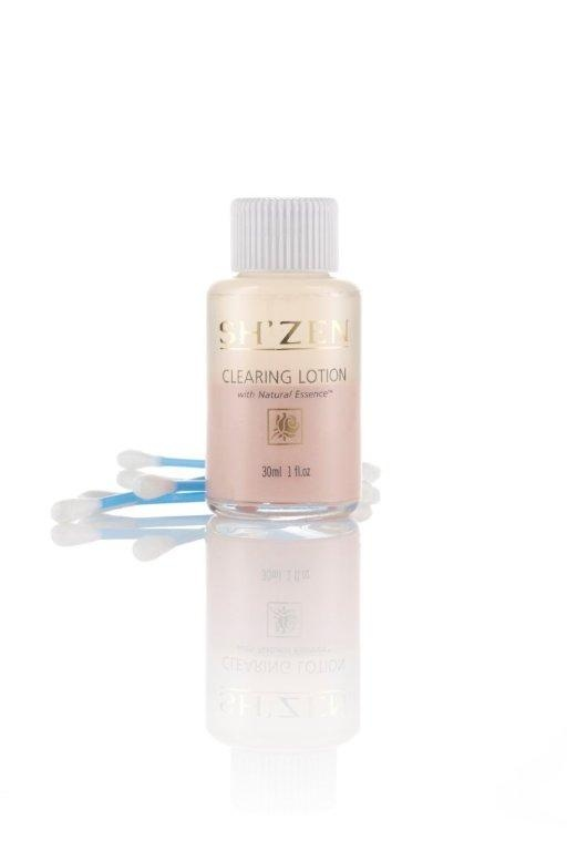 The Sh'Zen Natural Essence Clearing Lotion clears up spots fast with its powerful combination of purifying essential oils, calamine and zinc that bring skin back to balance. http://www.shzen.co.za/face_natural_essence.php