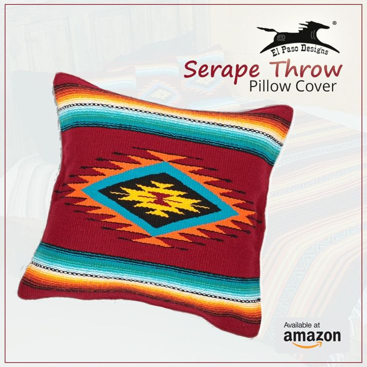 Serape Throw Pillow Cover, 18 X 18, Hand Woven in Southwest and Native American Styles.  Shop online: http://amzn.to/2pkaVoJ #Serape #Throw #Pillow #Cover #American #Styles #patio #Mother #family #travel #house #amazon #sofa #elpasodesigns #Blanket #falsa #throw #happy #trip #camping #yoga #weekend http://tipsrazzi.com/ipost/1509644739350375339/?code=BTzVeRaBCur