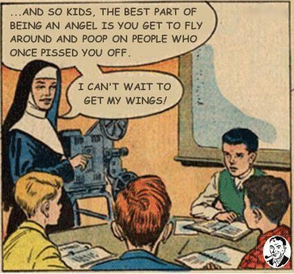 nun goals... - (best part)(angel)(fly around)(poop)(revenge)(can't wait)(wings)(comic book)(kids)(film projector) - #nun #goals #bestpart #angel #flyaround #poop #revenge #cantwait #wings #comicbook #kids #filmprojector