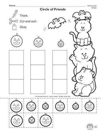 circle of friends lesson plans the mailbox halloween worksheetspreschool - Halloween Worksheets Preschool