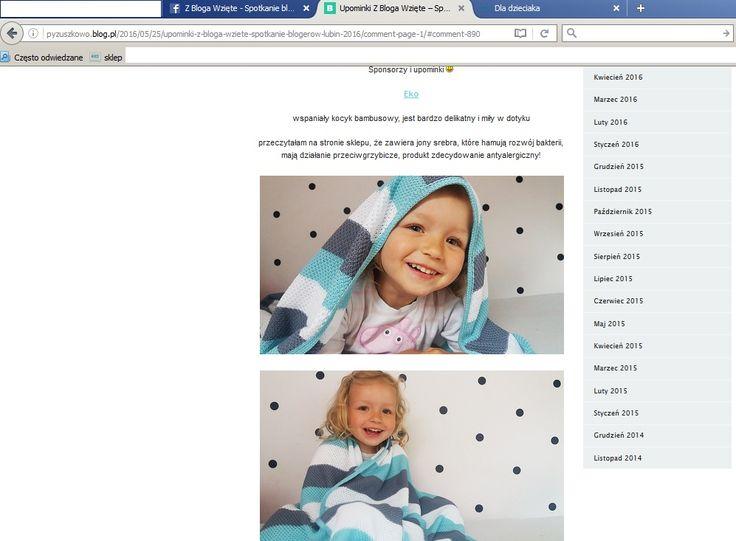 Śliczna modelka z blogu PYZUSZKOWO  oraz nasz kocyk bambusowy znajdziecie je :http://dladzieciaka.com/pl/