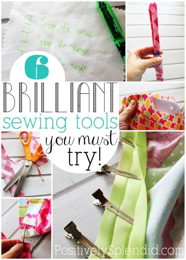 This list of sewing tools is full of handy gadgets that make sewing SO much easier! Can't wait to try them all!: Sewing Techniques, Sewing Tools, Sewing Ideas, Brilliant Sewing, Handy Sewing, Sewing Tricks, Handy Gadgets, Crafts Sewing