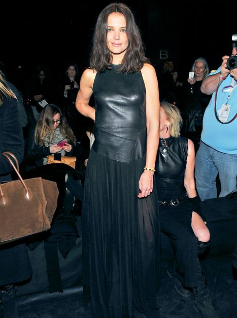 Katie Homes Wears See-Through Skirted Dress at Donna Karan NYFW Show - Us Weekly