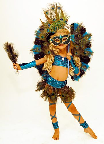 Hollywood Babe- Peacock Costume (I'd personally cover the midriff, but what a costume!)