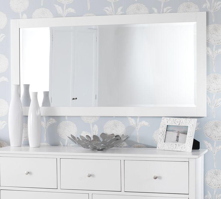 Large Wall Mirror White