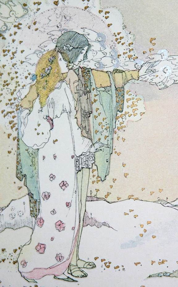 """Jessie M King illustrator for The Fairy Tales of Oscar Wilde - - also see http://www.artpassions.net/faq.html - interesting artical on """"copyright predators"""""""
