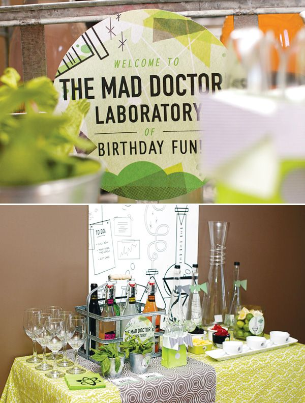 Mad Scientist dinner party ~ How much fun would this be to do for just adults! At Halloween maybe?