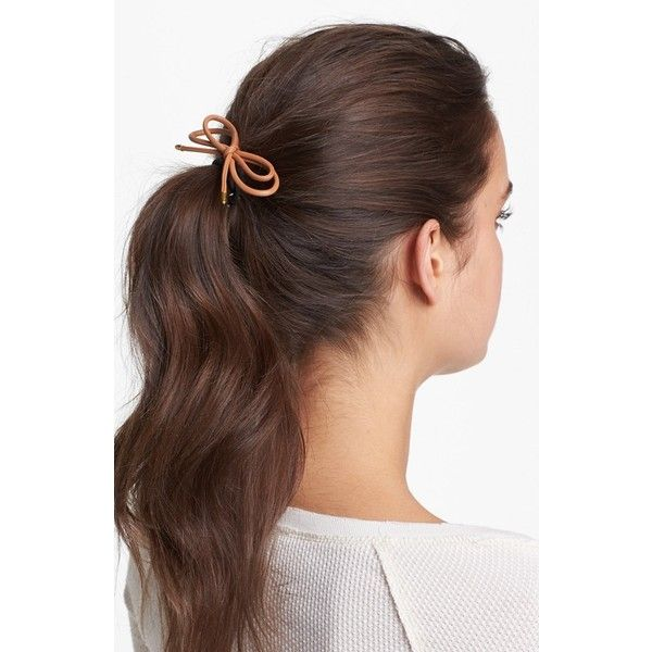 Cara 'Tie Me Up' Ponytail Holder Red (95 DKK) ❤ liked on Polyvore featuring hair, hairstyles, hair styles, beauty and people