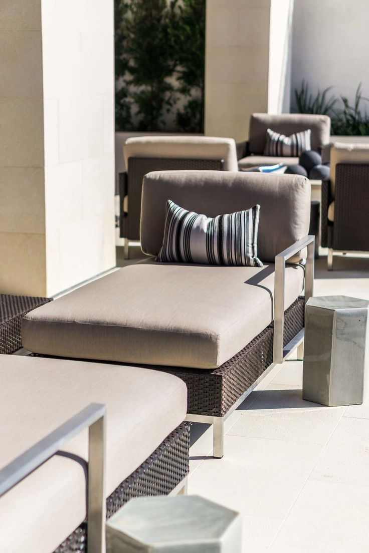 modern pool side patio set modern home furnishings and interior designdetails with elegant curves.  best modern interior design details images on pinterest  home