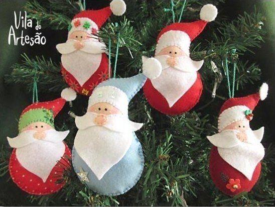 Дед Мороз из фетра. Новогодняя подвеска / Astro Analytics