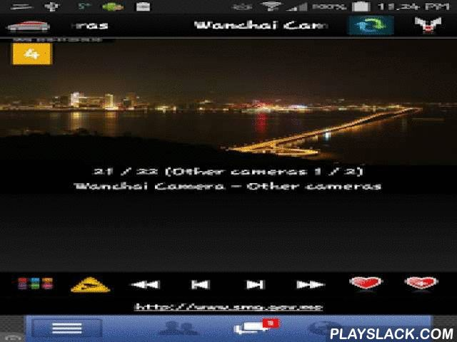 "Cameras Macau - Traffic Cams  Android App - playslack.com ,  ★ ""Cameras Macau - Traffic cams"" is free application that allow you to watch traffic cameras from Macau (Macao)★ 交通資訊澳門★ Great guide in transport for tourists and residents!★ Application contains more than 50 cameras (CCTV, live images, webcams) in first release !!!Cameras are mostly traffic cameras but we have a few weather, panorama views and other types of cameras.http://www.androsmartcameras.com/macau/macau.html✔ App have…"