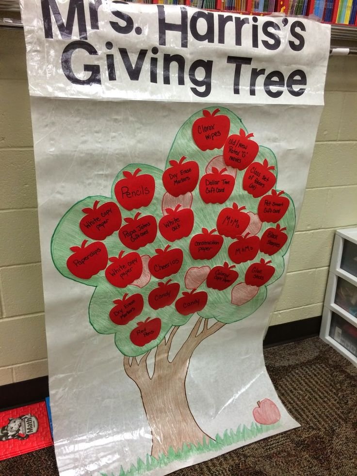Classroom Giving Tree Ideas ~ Back to school giving tree gives parents a chance