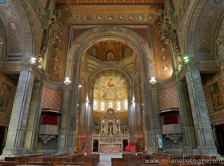 Milan (Italy) - Triumph arch and presbytery of the Basilica of the Corpus Domini