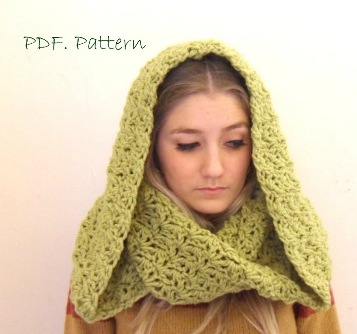 Crochet Hooded Cowl Scarf Pattern Dancox For