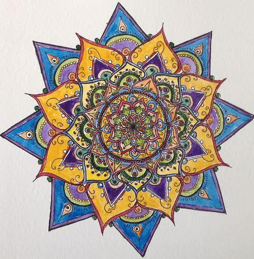 Watercolour mandala, by harborinthestorm