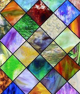 Produksjon av kunst farget glass