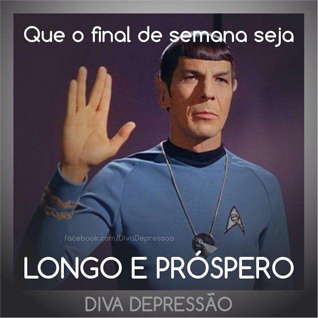 """RIP Mr. Spock  #diva #divas #humor #piada #sarcasmo #sarcastica #ironica #ironia #recalque #instamood #frases #quotes #fotos #instafrases #instaquotes…"""