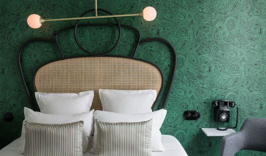 This Hotel in Paris is an Art Deco and Mid-Century Lighting Wonderland