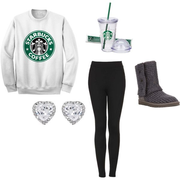 """""""Basic White Girl"""" by kyliedelgado on Polyvore"""