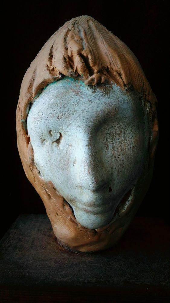 Scultura in terracotta patinata  sculpture cabinet de curiosites weird oddities