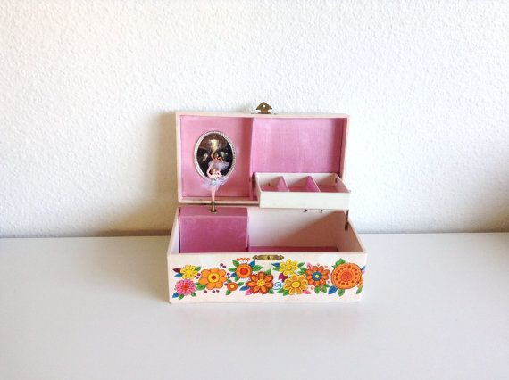 "Vintage Musical Jewelry Box, Plays the Theme from ""Love Story"""