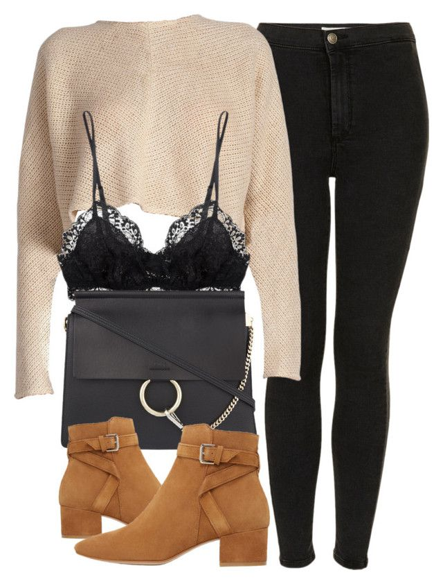 Untitled #6220 by laurenmboot on Polyvore featuring polyvore, fashion, style, Topshop, Eberjey, MANGO, Chloé and clothing