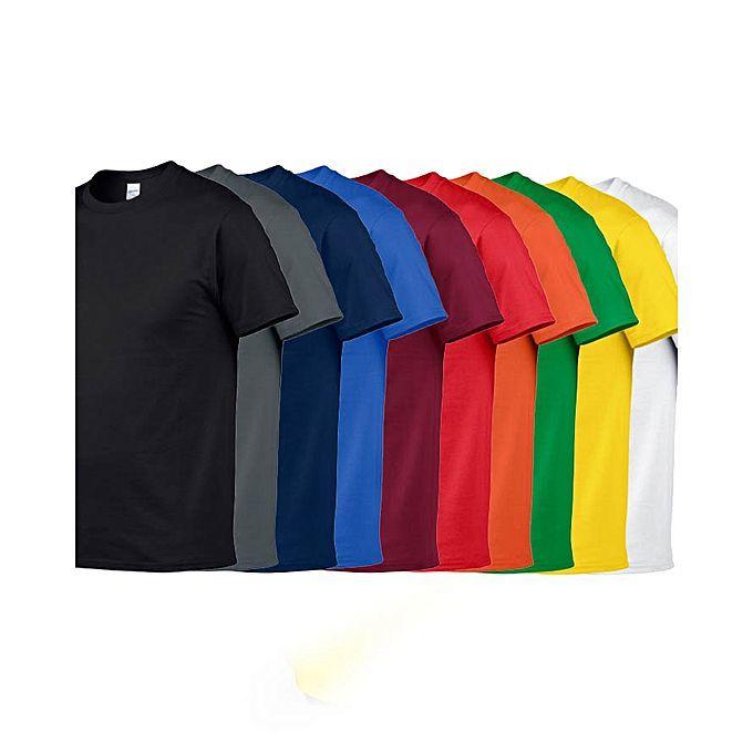 1bf174e2 Buy Buysense Bundle Of 10 : Plain Multicolor T-shirt For Men Online at Best  Price in Pakistan | daraz.pk