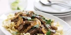 Image result for beef stroganoff