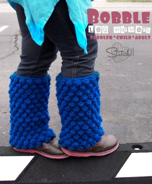 Free Crochet Pattern Leg Warmers Child : Free Bobble Leg Warmer Crochet Pattern - Toddler-Child ...