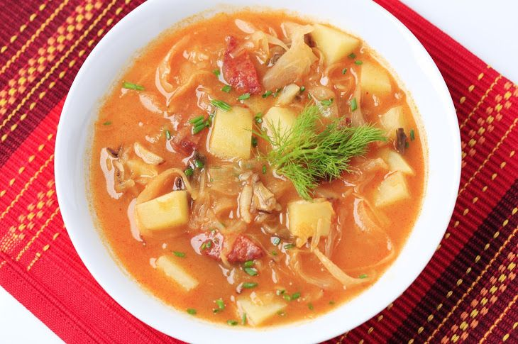 Cabbage Soup With Sausage  Potatoes Recipe Soups with kielbasa