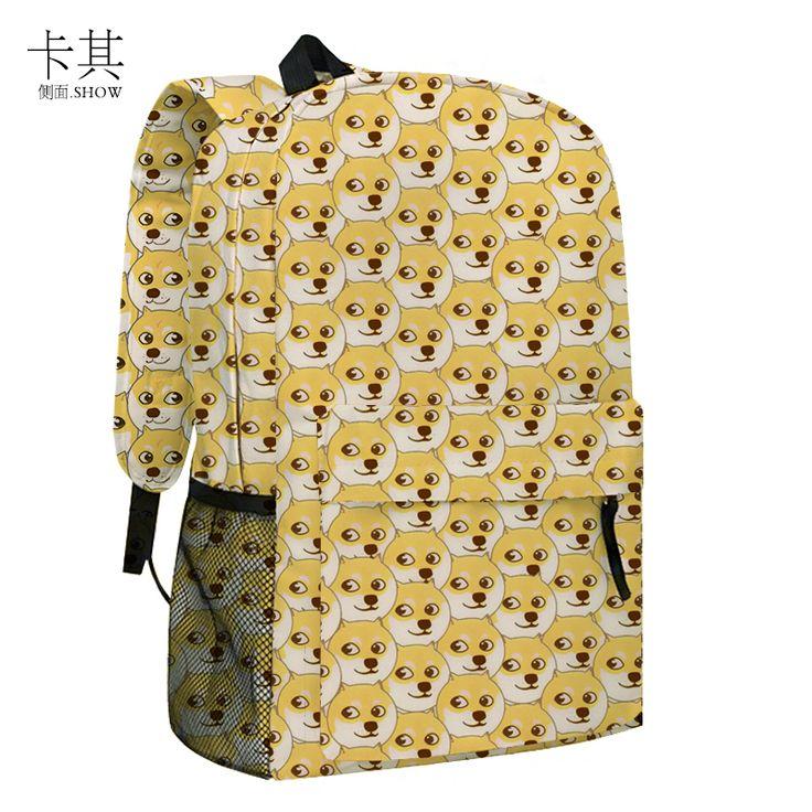 Spot shipping! God bother Shiba Inu dog doge cute adorable cartoon schoolbag student Backpack - Taobao global Station