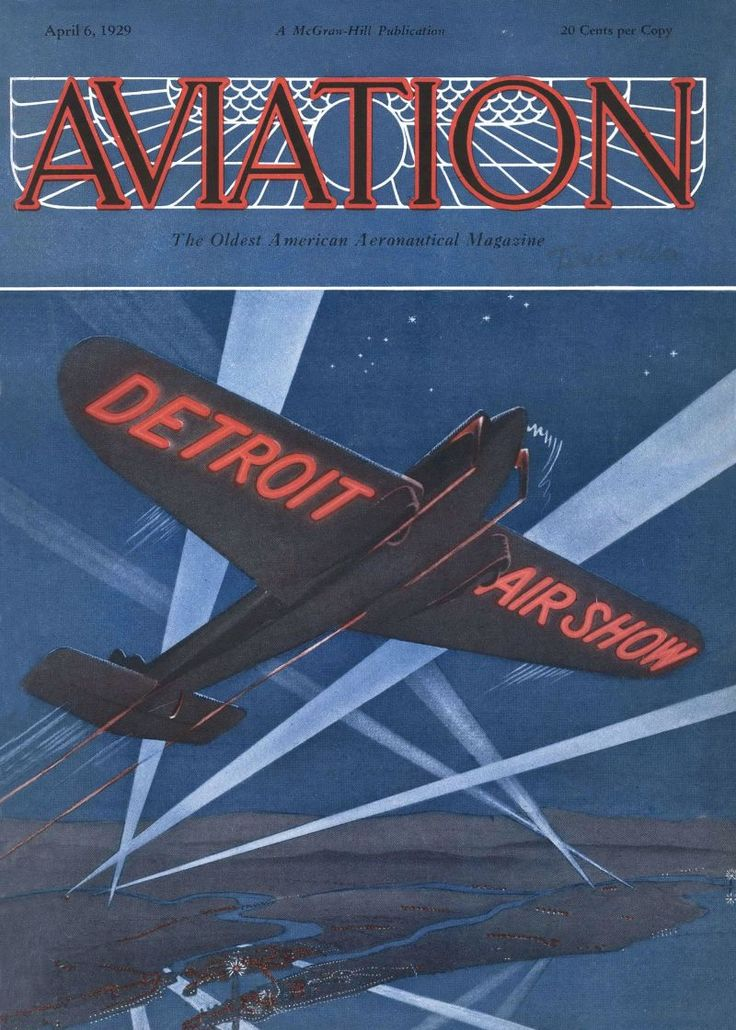 The first color cover. Aviation, April 6, 1929.